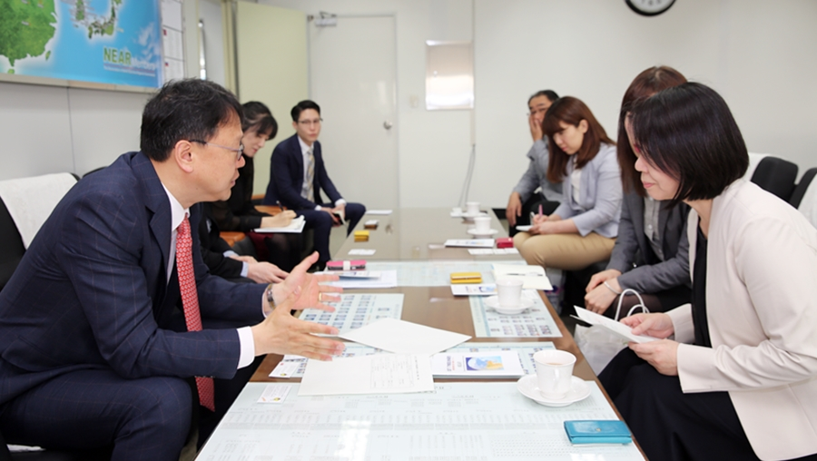 Delegation from Shimane Prefecture, Japan Visits NEAR Secretariat